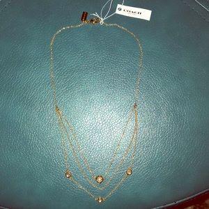 COACH Demi-Fine Sunburst Layered Chain Necklace